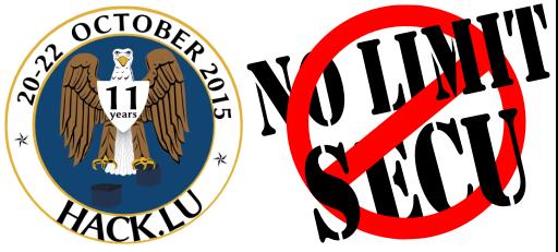 NoLimitSecu - Hack.lu2015- 512